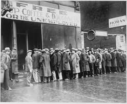 Soup Kitchen Fileunemployed Men Queued Outside A Depression Soup Kitchen