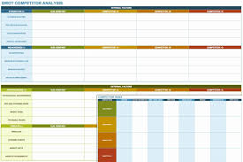 Competitor Analysis Template Excel Fresh Swot Analysis