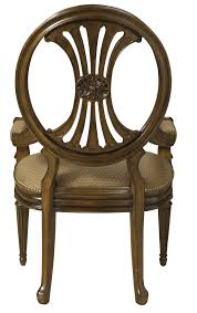 Armchair Upholstery Traditional Antique Style Dining Arm Chair With Coffee Colored