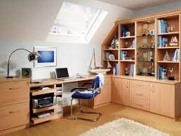 home office bedroom combination. Fitted Home Office In Beech Bedroom Combination