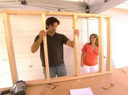 how to build a pony wall room divider