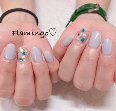 Flamingoさんのネイルデザイン Shell Blue Tredina
