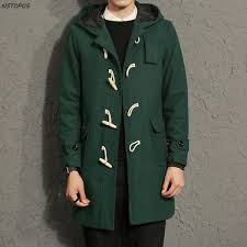 2018 whole horn on men s long trench coats 2017 autumn winter men hoo trench coat male trench coat winter black green big size 5xl from kennethy