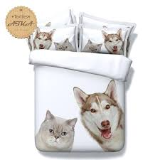 dog bedding set q bedding set wolf husky cat dog bedding print twin queen king super dog bedding set