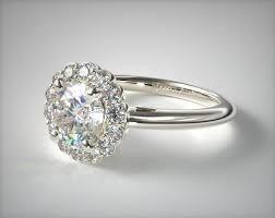 floral halo engagement ring 14k white gold james allen 17545w14