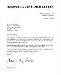 letter of job acceptance offer letter acceptance mail sample template monster reviews job