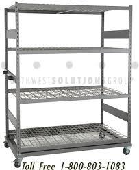 adjule shelving carts casters wheels big wide rack solid steel shelf storage
