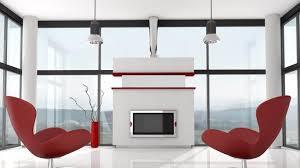 Futuristic Living Room Futuristic Interior Design Brown Wooden Laminate End Table Grey