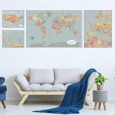 large personalized world map