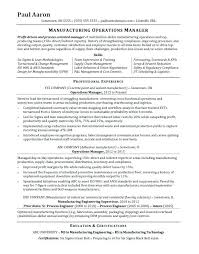 Process Engineer Resume Operations Manager Resume Sample Process