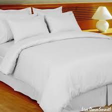 white stripe twin xl duvet style comforter set 100 cotton 300 thread count