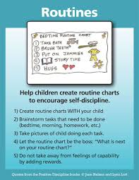 Bedtime Chart For Adults Routines Positive Discipline
