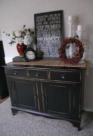 black painted furniture ideas. Black, Distressed Buffet..this Looks Just Like My Tv Stand \u0026 End Tables Black Painted Furniture Ideas