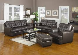 hugo chocolate leather sofa set