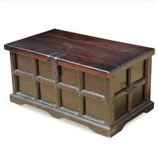 captains solid wood long coffee table chest trunk plans crate and barrel