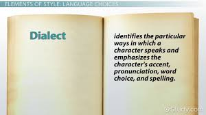 Style in Fiction  Dialect  amp  Figures of Speech