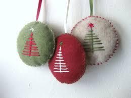Christmas ornament set in felt handmade felt by MakeCreateNYC