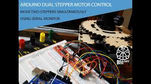 control 2 stepper motor using an arduino easy driver and serial monitor tutorial you