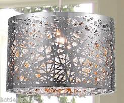 2 of 6 10in modern light crystal chrome pendant hanging lamp chandelier ceiling fixture