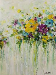 acrylic abstract painting flowers painting original acrylic