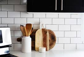 Image result for before and after backsplash subway tiles