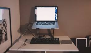 fabulous laptop desk setup with the fight between aesthetics and ergonomics the brooks review