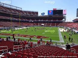 levi s stadium section 101 view