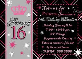 sweet 16th birthday invitation templates awesome 16 birthday within sweet 16 invitations templates