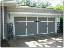 trellis over garage door iron wood