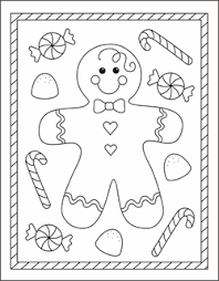 Gingerbread Girl Coloring Pages Color Bros