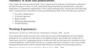 Building Maintenance Technician Resume Design And Ideas Page 0