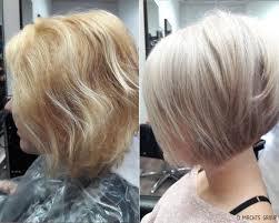 Vorher Nachher Frisuren Gestufter Haarschnitt Bob K Hles Blond