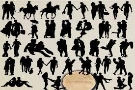 Couple Silhouette Graphic By Retrowalldecor Creative Fabrica