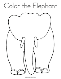 Baby Elephant Coloring Pages Framesforeverinfo
