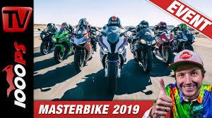 Masterbike 2019 - Superbike Vergleichstest auf der Rennstrecke - YouTube