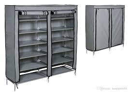 2019 grey shoe rack shelf storage closet organizer cabinet portable 6 layer w cover from huangrui668 22 27 dhgate com