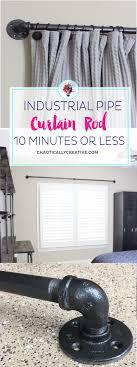 easy diy curtain rods industrial outdoor