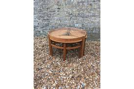 1960s mid century round teak glass topped nest of tables by nathan round glass top coffee table nest of tables nathan nest of tables vinterior
