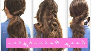 step 4 easy lazy hairstyles fall hairstyle for um long hair throughout clic easy hairstyles