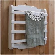 shabby chic towel rack 4 slat kitchen bathroom laundry room french country white color choice chic laundry room