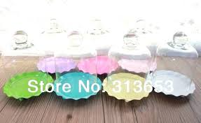 glass cupcake stand dome mini cake pan pastry with holder for wedding home party supplies in glass cupcake stand