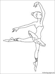 Ballerina Kleurplaat Ballerina Feeling Excited Coloring Page To