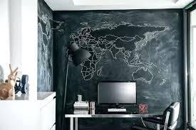Chalkboard Wall Bedroom Stainless Steel Desk With Black Chalkboard Walls  Chalkboard Paint Bedroom Wall