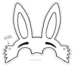 Easter Bunny Face Coloring Pages The Easter Bunny Coloring Image