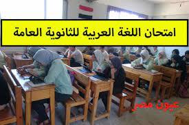 نموذج إجابة امتحان اللغة العربية 2021 بابل شيت ثالثة ثانوي pdf شعبة أدبي  بتوزيع الدرجات - عيون مصر