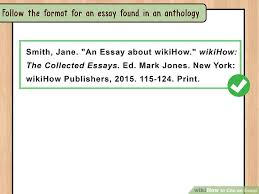 4 Ways To Cite An Essay Wikihow