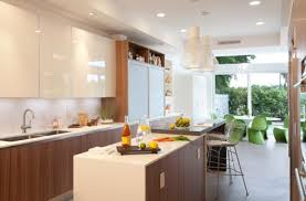 frameless painted glass front cabinets offer a glossy look
