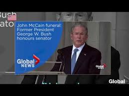 「bush speech at mccain funeral」の画像検索結果