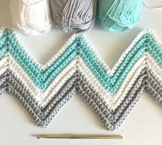Chevron Crochet Blanket Pattern Awesome Single Crochet Chevron Blanket In Mint Gray And White Daisy Farm