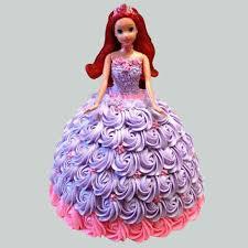 Barbie In Floral Roses Cake Chocolate 3kg Gift Disney Princess
